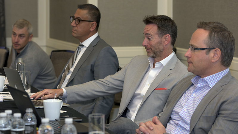 from left: Brandon Spackman (Jackson Hole), Art Sharif (Silicon Valley), Chris Feuer (Chicago), Dean Jones (Seattle)