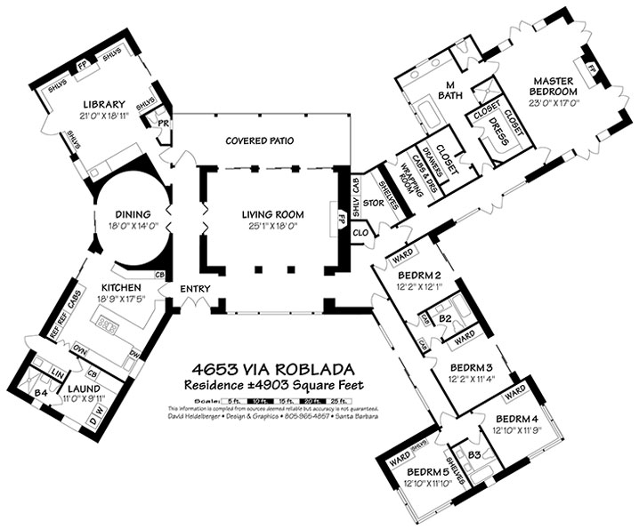 4653 Via Roblada Floor Plans