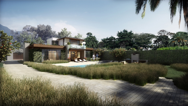 Rendering of the Approved Residence by The Warner Group Architects